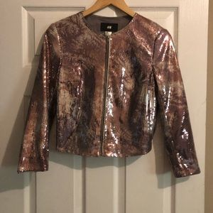 Cute H&M jacket . Great for the coming holidays.